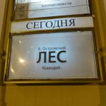 Премьера спектакля «Лес» режиссера Е. Ланцова — 27.01.2018 г. (видео)