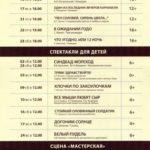 Репертуар Московского Нового драматического театра на Февраль 2019 года