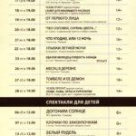 Репертуар Московского Нового драматического театра на Февраль 2021 год